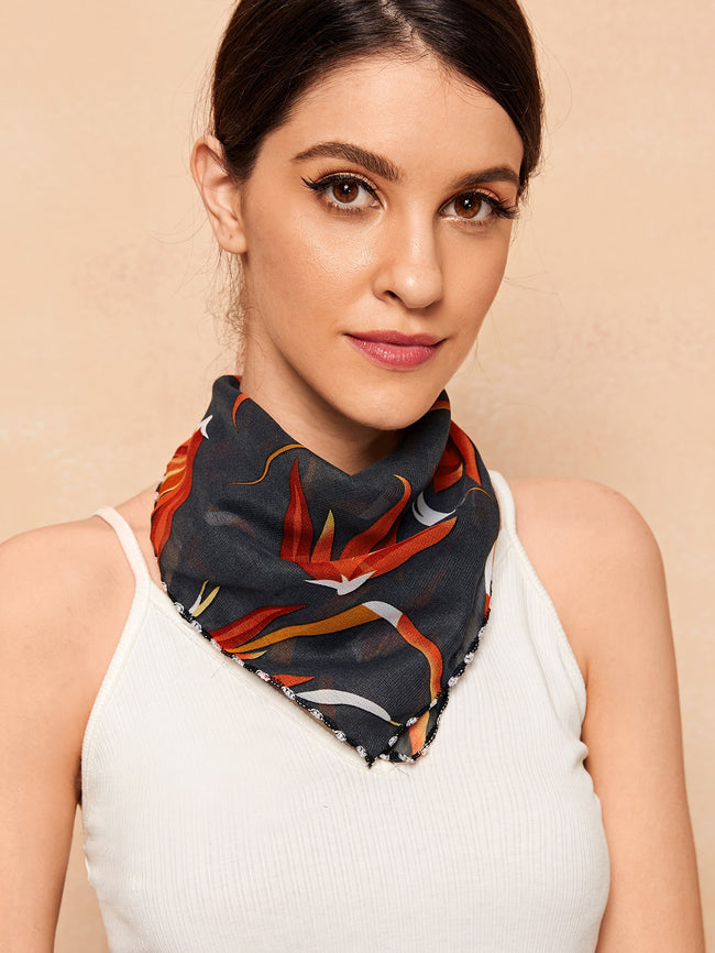 Blooms Of Burgunday Floral Scarf Mask (In Stock 7/22)