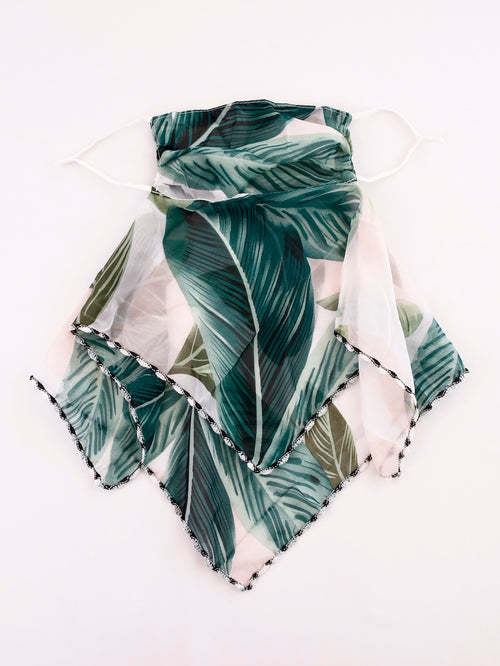 Tropics Of Plants Scarf Mask (In Stock Ready To Ship)