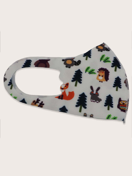 Kids Happy Forest Life Face Mask (In Stock, Ready To Ship)