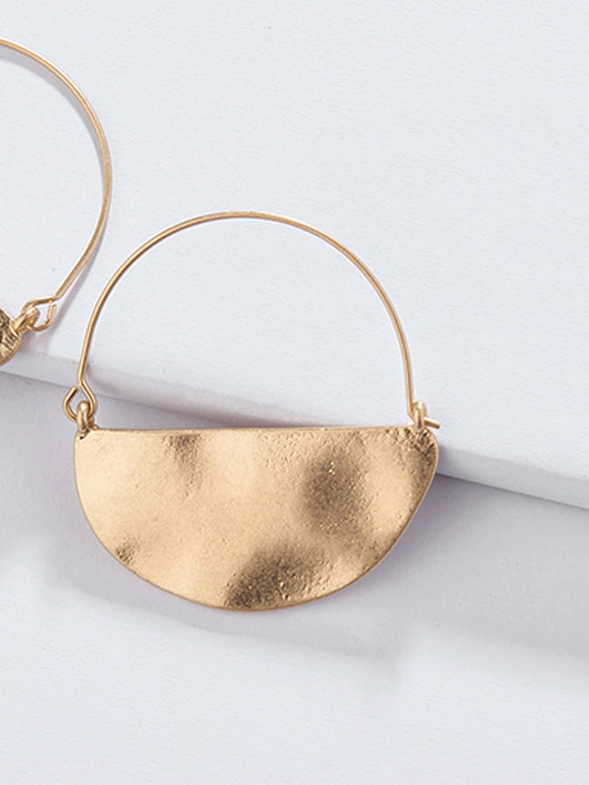 Chic Hammered Hoop Earrings