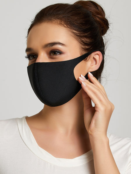 Black Bold Beautiful Scarf Mask (In Stock Ready To Ship)
