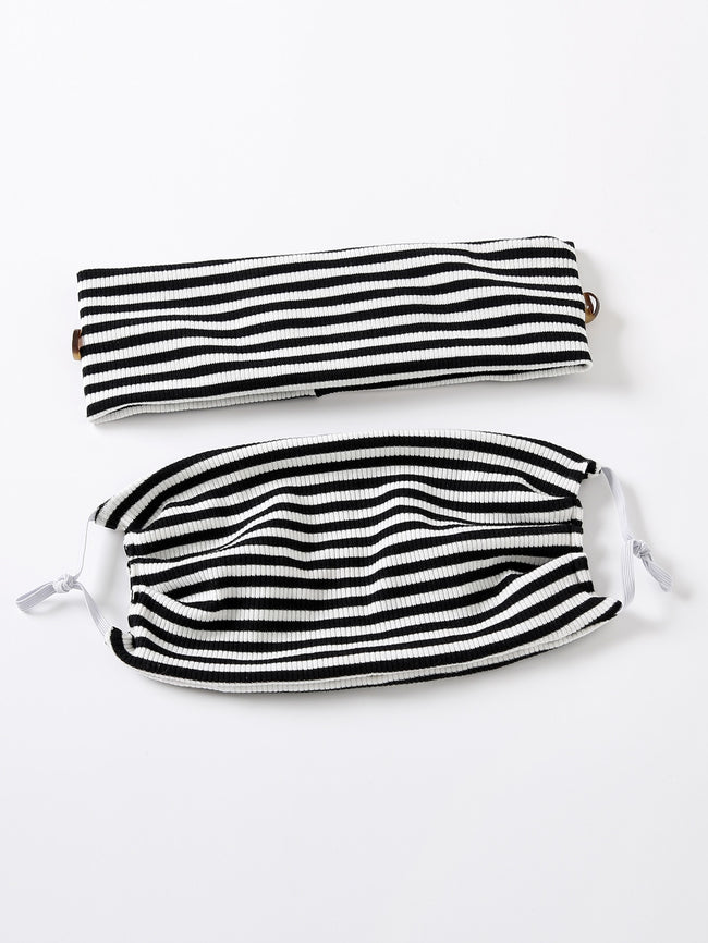 Spring Stripes Delight Headband & Face Mask Set (In Stock, Ready To Ship)