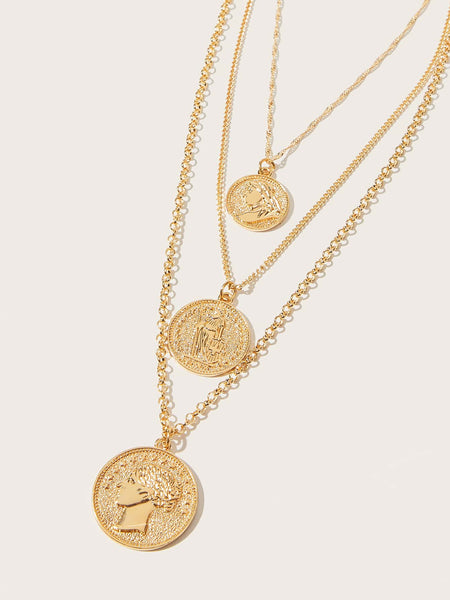 Get Those Coins Statement Necklace