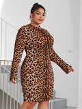 Letting The Leopard Out Midi Dress