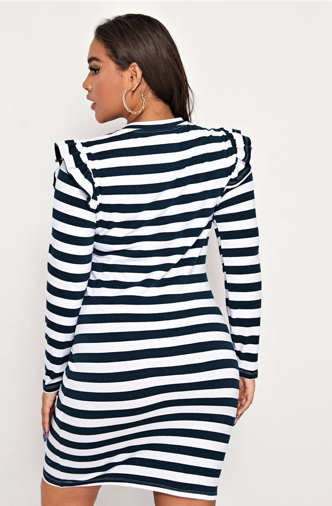 All Puffed Up In Stripes Dress