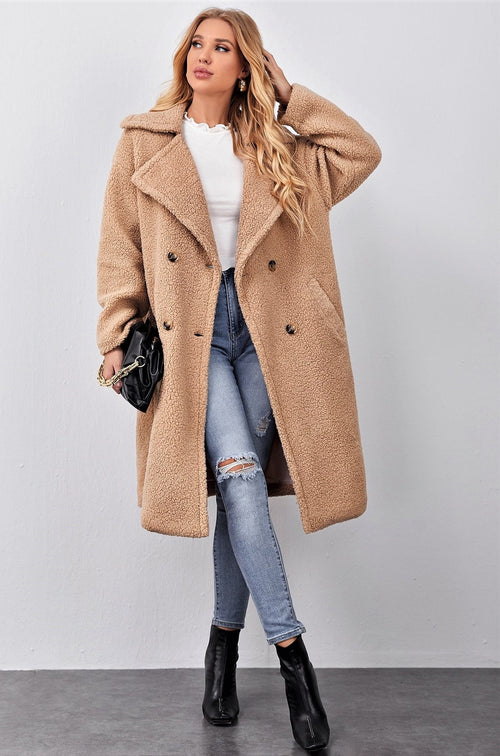 A Teddy & Trench Twist Vibe Coat