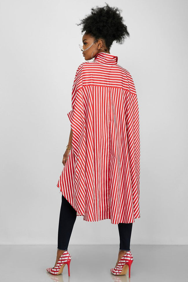 Flowly & Flarey Pretty in Stripes Top (Red)