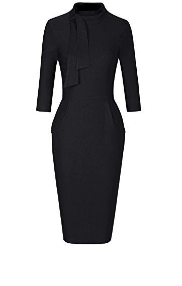 The Beckman Effect Midi Dress (Black)