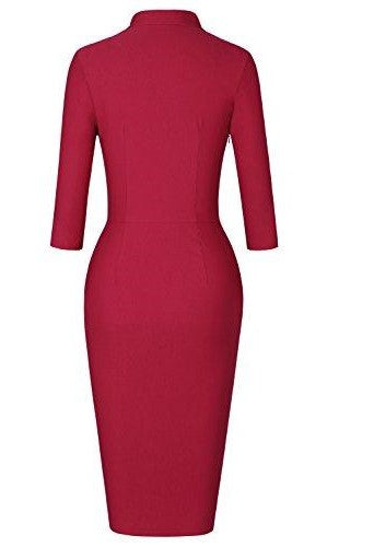 The Beckman Effect Midi Dress (Red)