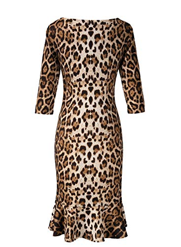 Sophisicated Leopard With Flare Midi Dress