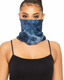Blue Crush Tie Dye Tubular Face Mask (In Stock, Ready To Ship)