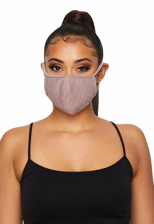 A Chic Protective Mauve Face Mask & Filters (In Stock, Ready To Ship)