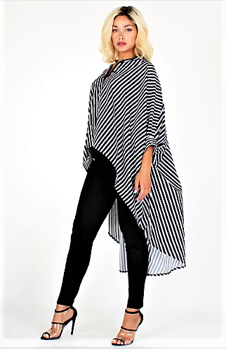 Flowly & Flarey Pretty in Stripes Top (Black)