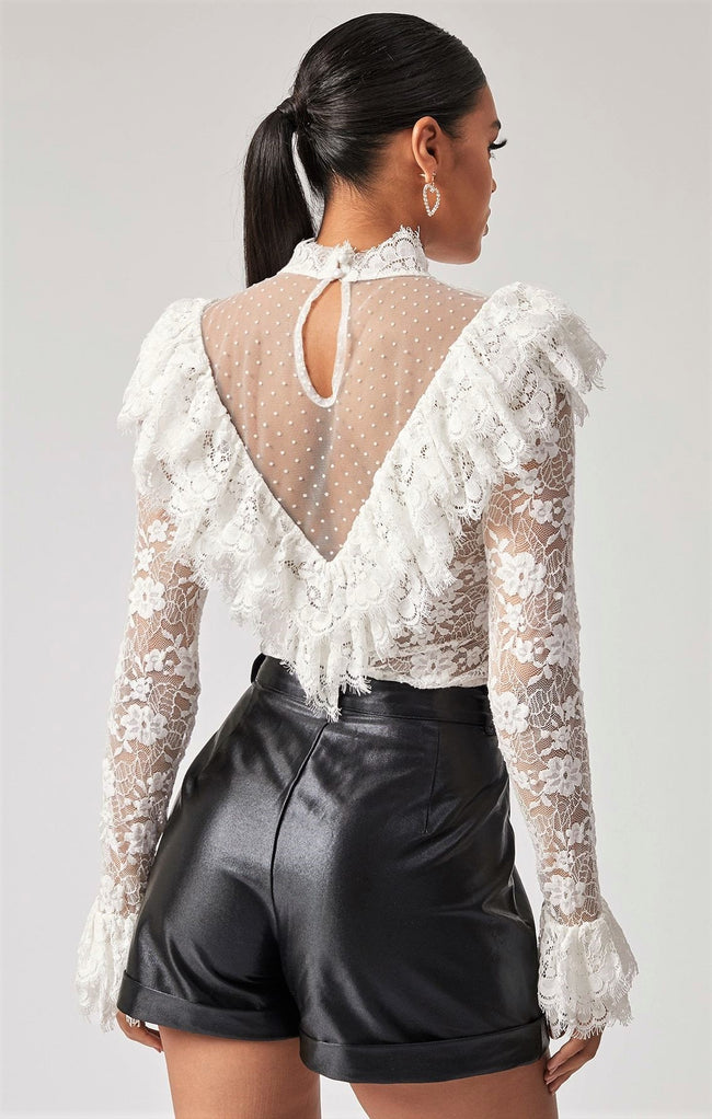 Laced In Grace Victorian Top