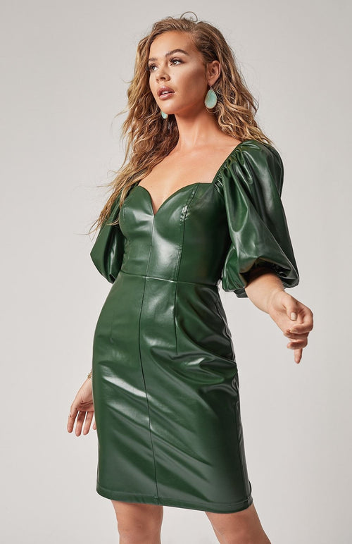 Stunning & Sweet Vegan Leather Dress