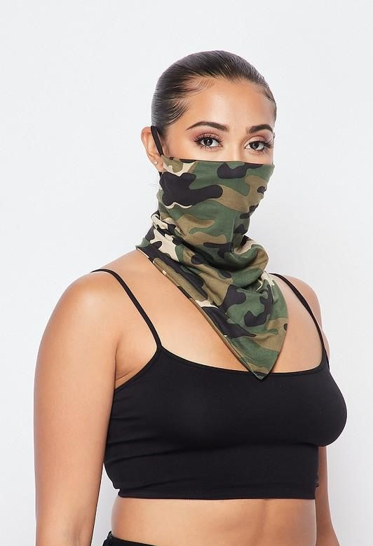 Camo Cute Scarf Mask (In Stock, Ready To Ship)