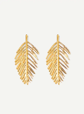 Fancy Open Leaf Earrings