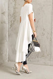 Fiercely Flared High Low Top (White)