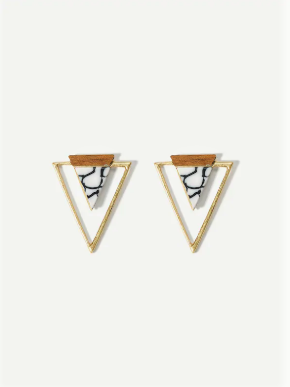 Glamour Triangle  Earrings