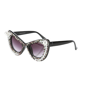 Vintage Retro Row Of Pearls Sunglasses