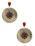 METAL FILIGREE EMBELLISHED EARRINGS