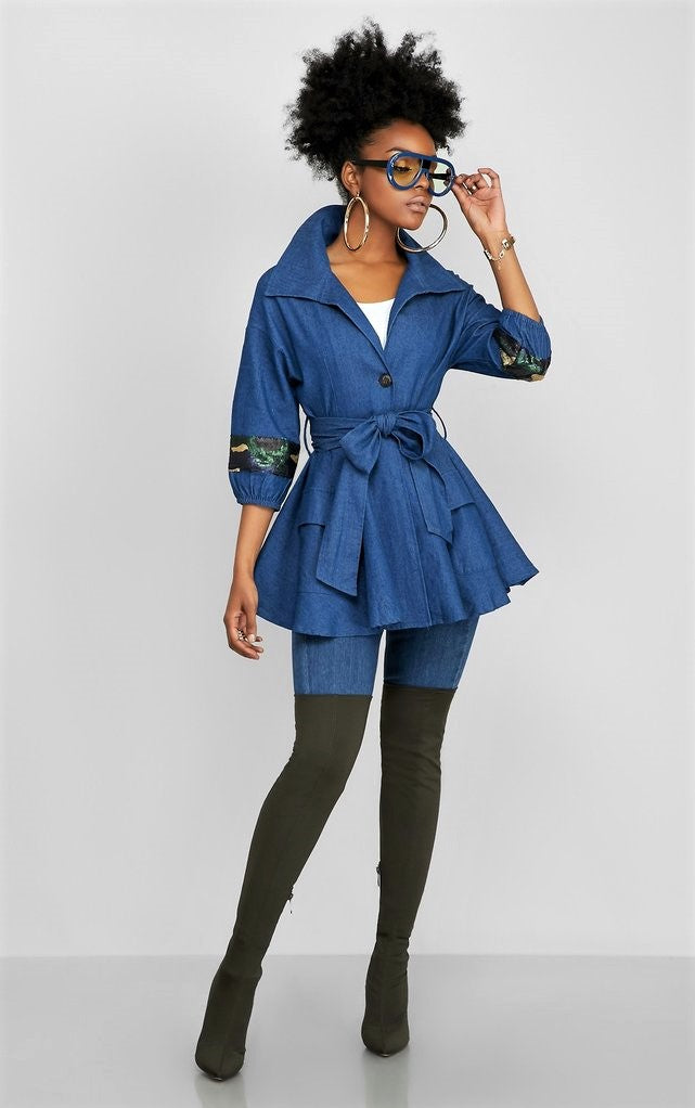 The Belted Peplum Dapper Jacket