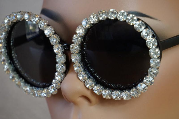 Routed To Oval & Gems Sunglasses