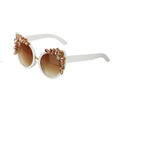Old Classic Hollywood Gemstones Sunglasses (White)
