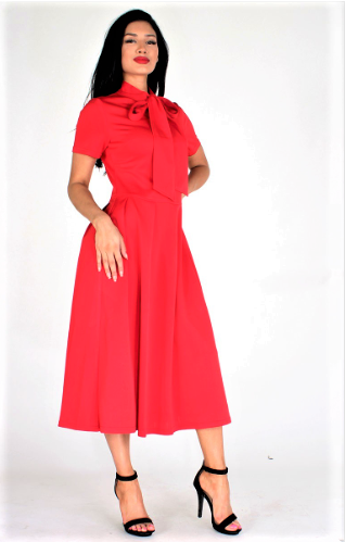 Full Of Flare Elegant Dress (Red)