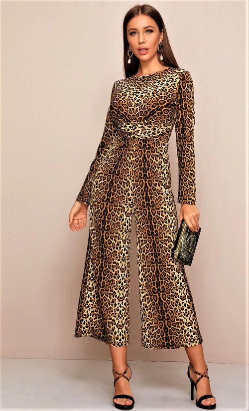 Make Them Roar Leopard Jumpsuit