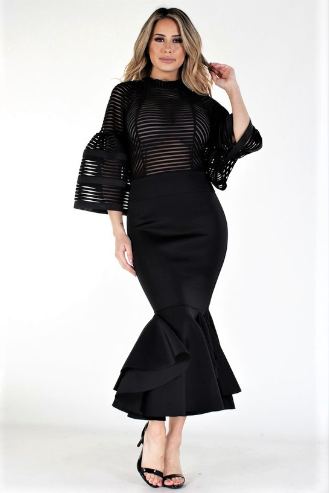 Bold In Black Elegance Dress