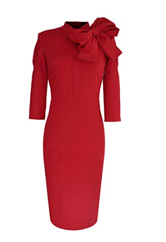 Very Sassy & Classy Oversized Bow Midi Dress
