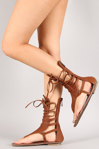 Strappy Lace Up Gladiator Sandal