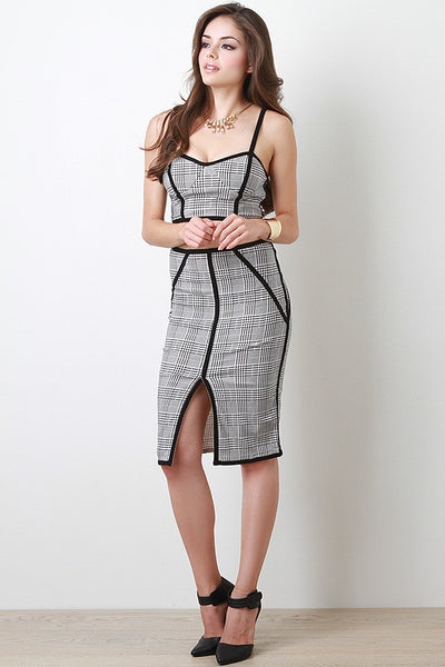Trendy Houndstooth Skirt