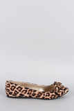 Trendy Leopard with Bow Flat