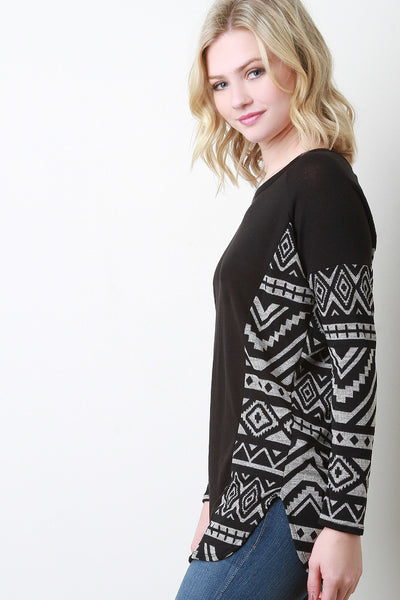 Tribal Panel Knit Top