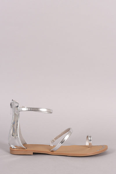 Single Straps Toe Ring Sandal