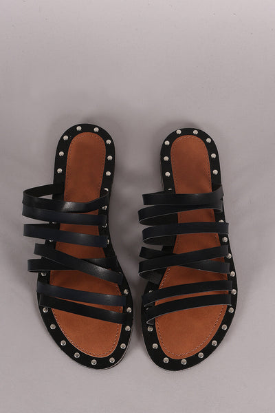 Slip On Flat Sutdded Flats