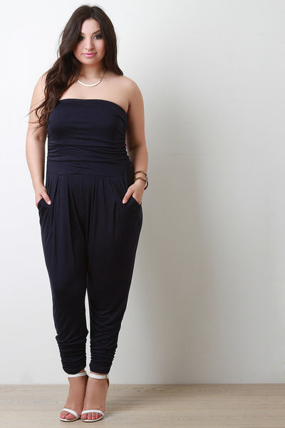 Strapless Cinched Jumpsuit