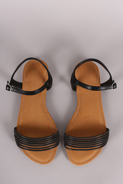 Strappy Open Toe Flats