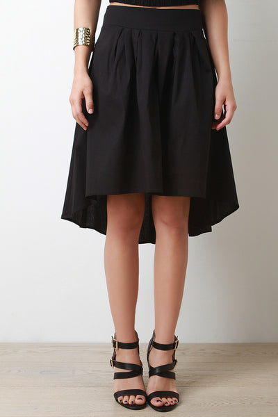 Tie High Low Skirt