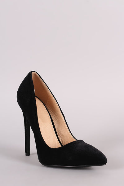 Velvet Pointy Toe Stilettos