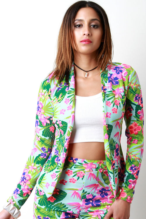 Tropical Flowers Blazer