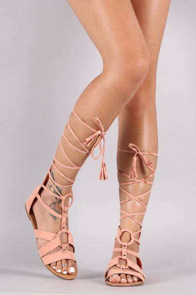 Strappy with O-Design Gladiator Sandal