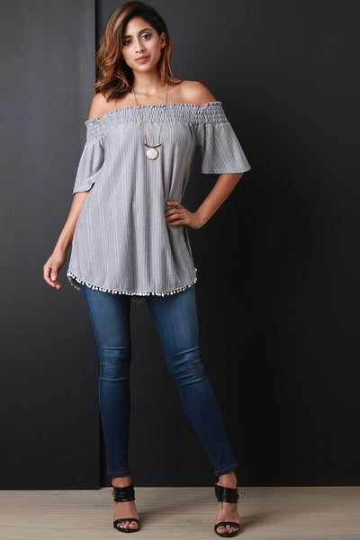 Trim Off the Shoulder Blouse