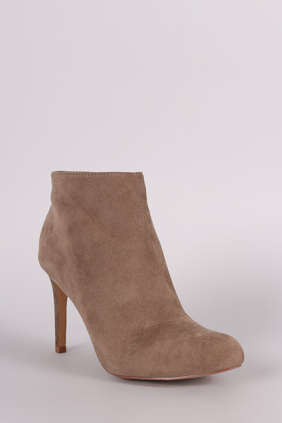 Suede Round Toe Classic Booties