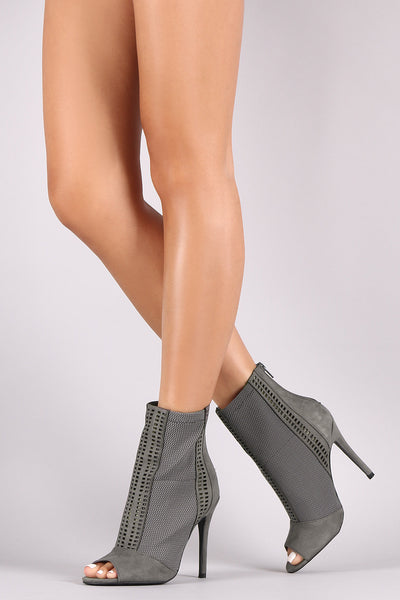 Suede Stiletto Booties