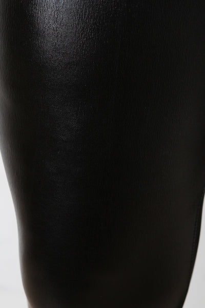 Shiny Vegan Leather Leggings