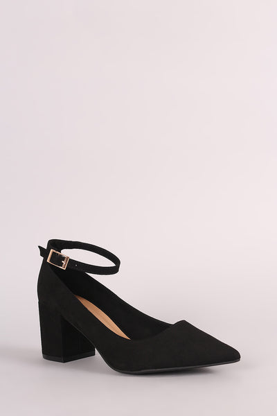 aef8abc2192 Vegan Suede Ankle Strap Low Block Heel – BE CHIC NEW YORK