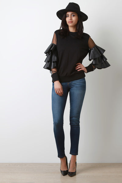 Ruffle Their Feathers Top